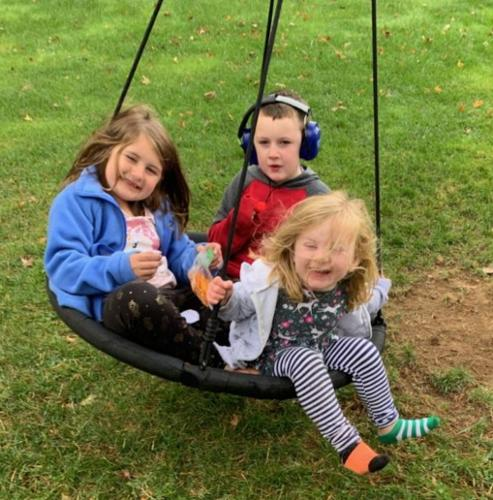Having a SWINGING good time!
